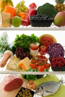 full frig of healthy foods