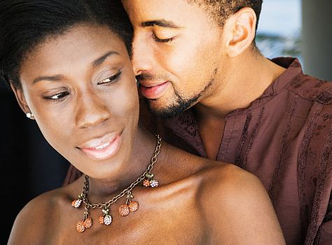african-american-couple-flirting