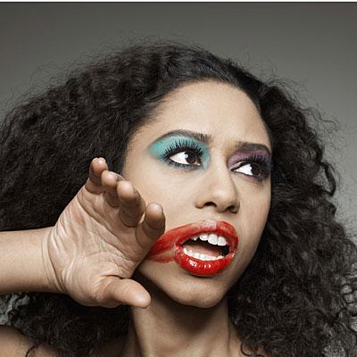 smudged-makeup