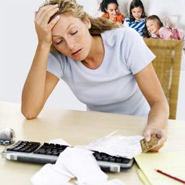 single mom stressed