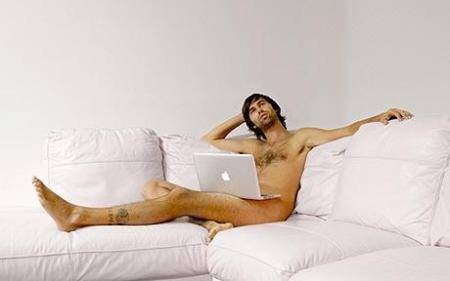 naked on computer
