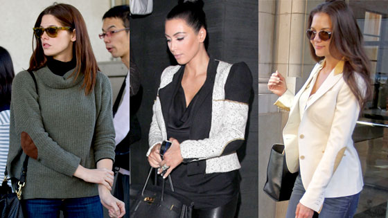 Celebs wearing elbow patches!