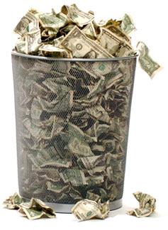 money-trashcan