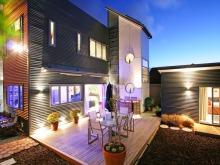 sophisticated-backyard-house-design-funky-lighting-system1