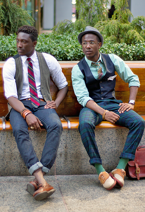 well dressed black men