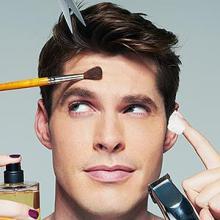 man in makeup