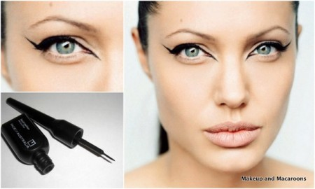 Angelina jolie liquid eyeliner look