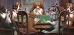 Dogs-Playing-Poker-Game