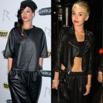 rihanna-miley-cyrus-all-black-leather-outfits-photos